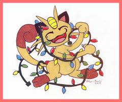 Meowth Secret Santa by Allyson-x