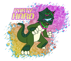 Party Hard Triceramon by spud133