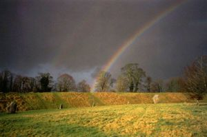 Rainbow Sky over Avebury by parallel-pam