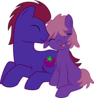 Raspberry Crush and foal commission by RyouXIII