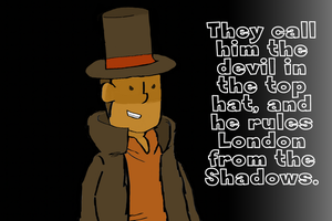The Evil Professor Layton by Shadow-and-Me-foreve