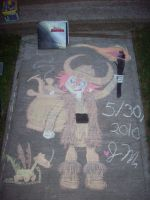 Young Hiccup in Chalk 1 by Wolfgirl17591