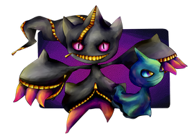 Mega Banette and Shuppet by Iffy-Jiffy