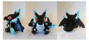 Pokemon Charizard X Plush by StarMassacre
