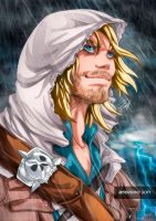 Edward Kenway of the Assassins Creed 4 by Sersiso