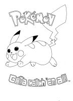 Pikachu Coloring Page by Champion-Frita