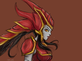 Shyvana, The Half Dragon by chrecand