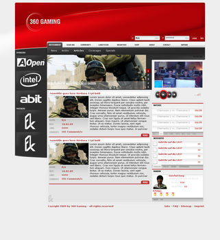 360 Gaming Lanparty Page by flyx2k7