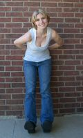 Leaning on Wall by Neriah-stock