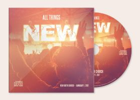 All Things New CD Artwork Template by loswl