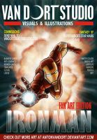 Iron Man magazine cover by antonvandort