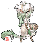 #403 Floral Bagbean - Lily of the valley by griffsnuff