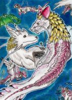 Past meets Present - Christmas ACEO for Hobsyllwin by Azzurgil