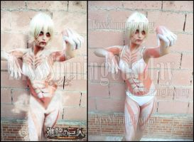 Photo comparison: Annie Titan Form by LauraNikoPhantomhive