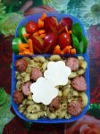 fried mac potato cheese plum bento by plainordinary1