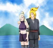 Deidara and Ino by korbelus
