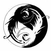 Ying and Yang Phoenix by Flash-of-Lingt