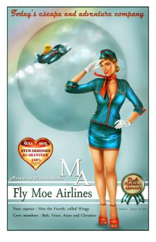Moe Airlines poster by crayonmaniac