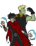 Wiccan and Hulkling by BlitheFool