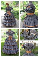 1860s inspired Steampunk Ballgown by ImperialFiddlesticks