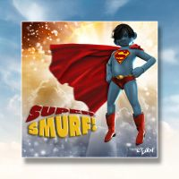 SUPER SMURF by isikol