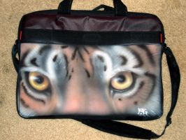 Tiger eyes- laptop bag by cloudstar-wolf