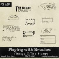 Vintage office Rubber Stamp Brushes by duggar
