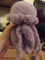 Purple fluffy jellyfish by Amigurumi-Lover