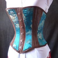 Turquoise Steampunk Corset by LillysWorkshop
