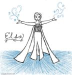 Elsa Doodle (and lengthy fan-sequel outline) by EuTytoAlba