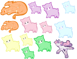 First Sticker Set ready for sale! by Natural-Melody