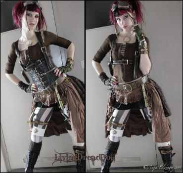 Steampunk outfit by LivingDreadDoll