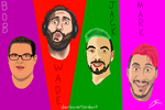 Markiplier and Friends (with names) by Koragg1