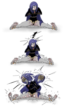 Raven's Inner Legs Make her Scream by PawFeather