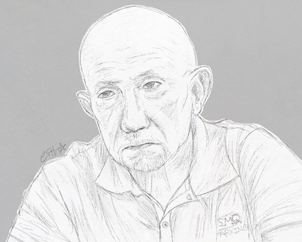 Mike Ehrmantraut by Estherella