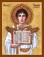 St. John the Evangelist icon by Theophilia