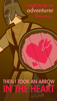 Skyrim Valentines - Guard by oxboxer