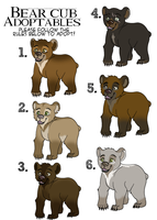 Bear cub adoptables - CLOSED by Twister4eva
