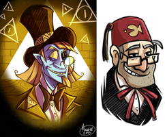 .Human Bill Cipher + Stan. by MalakiaLaGatta