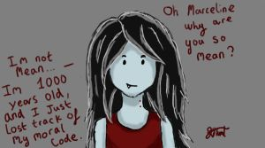 Oh marceline why are you so mean? by Milliemonster