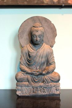 Buddha Meditating  In Victoria And Albert Museum by aegiandyad