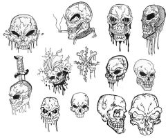 Skull collection WIP by Killswitch-Chris