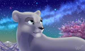 In this night cherry blossoms by Fur-kotka
