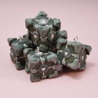 Polymer Clay Companion Cubes by AzraelEvangeline