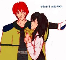 Gene and Melfina by nieregreenleaf