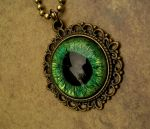 Forest Dream - Dragon Eye Pendant detail by LadyPirotessa