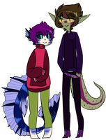short bright and adorable + tall dark and handsome by imadoodlist