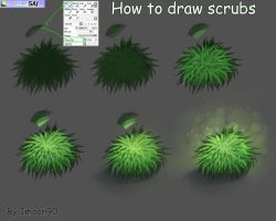 shrubs tutorials by Imoon90