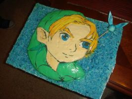Young Link cake by Xaladrion