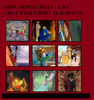 Nine Movies I love that Others Hate by J-Cat